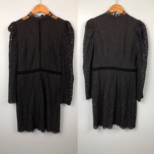 Express High Neck Lace Little Black Dress Size 6